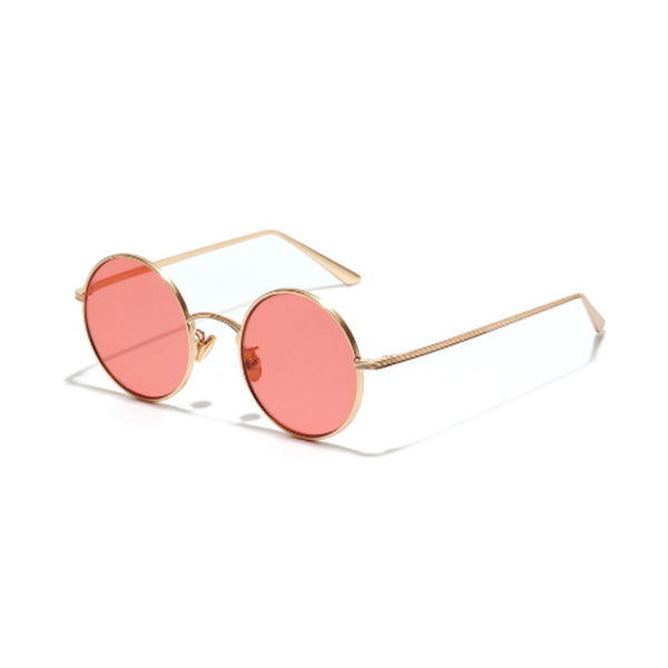 N019 Red Round Sunglasses