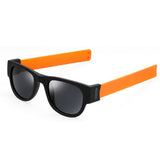 M020 Orange Foldable Sunglasses