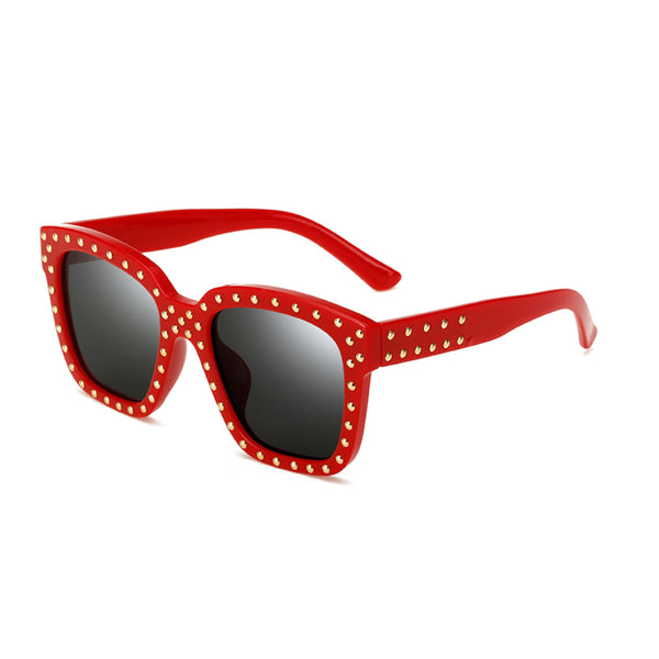 C036 Red Square Sunglasses