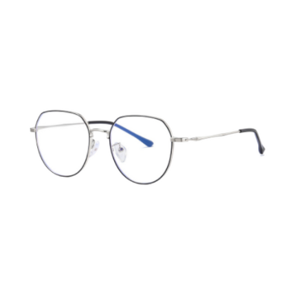 Z008 Silver Round Anti Blue Light Glasses