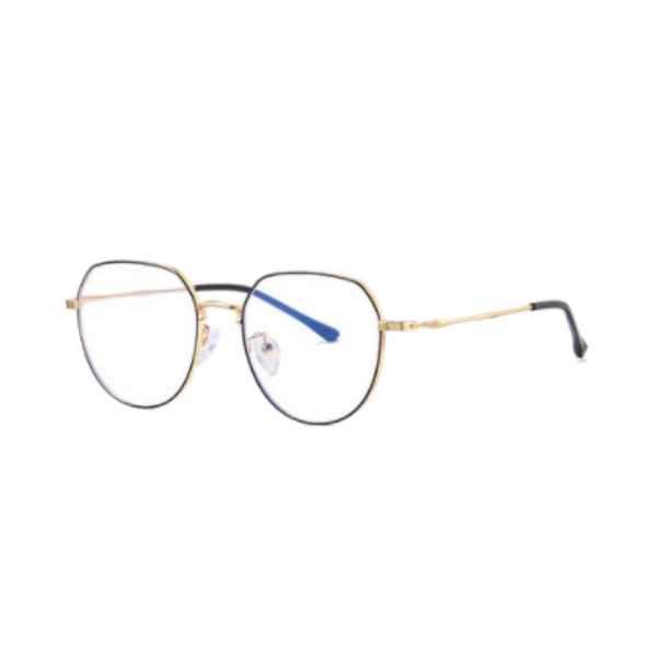 Z009 Gold Round Anti Blue Light Glasses