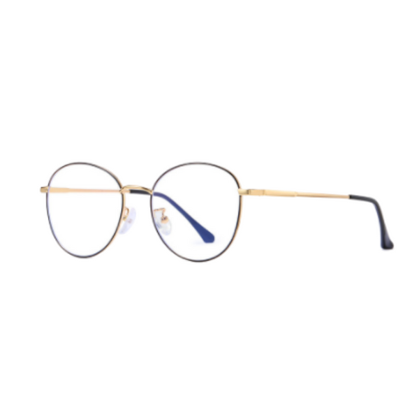 Z010 Gold Round Anti Blue Light Glasses