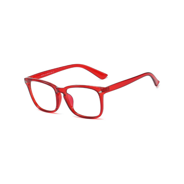 BK017 Red Anti Blue Light Kids Glasses
