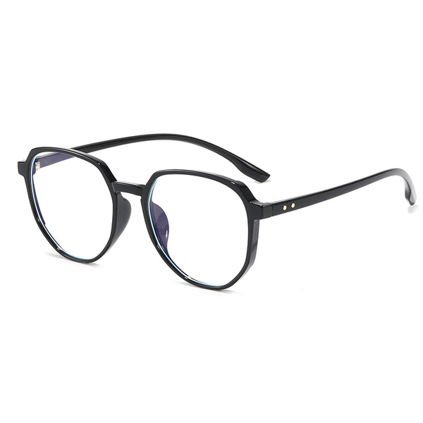Z026 Black Oval Anti Blue Light Glasses