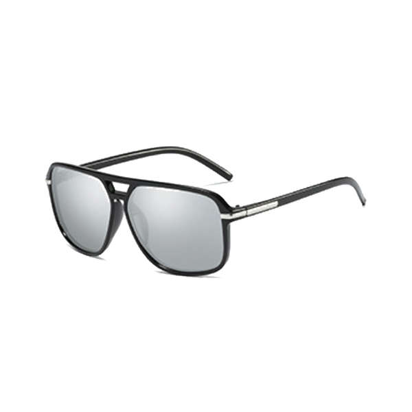 M017A Silver Square Sunglasses