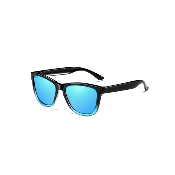 N025 Polarized Blue Square Sunglasses
