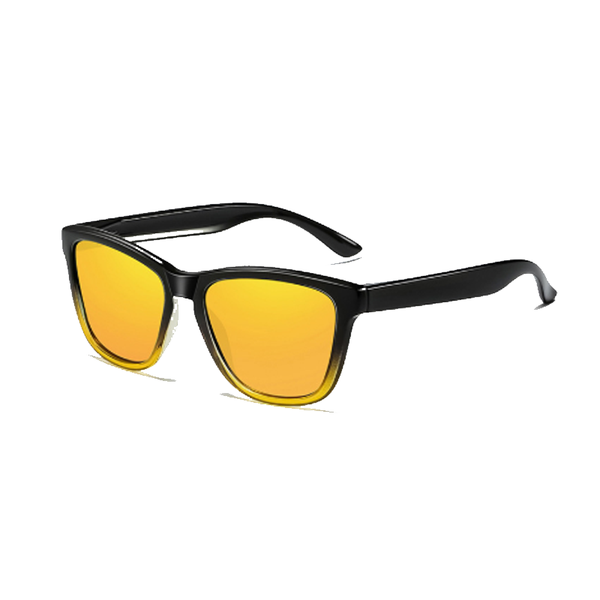 N026A Polarized Yellow Square Sunglasses