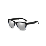 N027 Polarized Silver Square Sunglasses