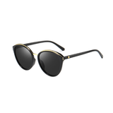 N050 Polarized Black Butterfly Sunglasses