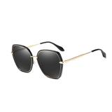 N051 Polarized Black Square Sunglasses