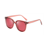 N055 Polarized Red Square Sunglasses