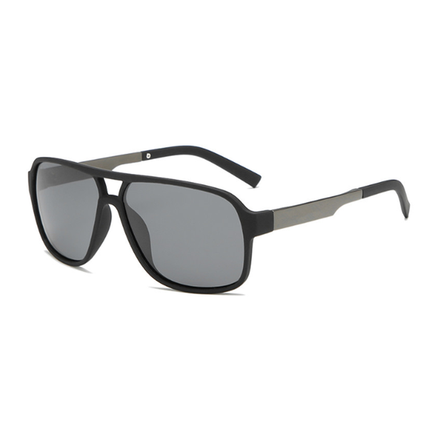 N058 Polarized Black Oval Sunglasses