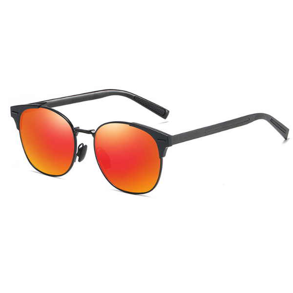N075 Polarized Red Square Sunglasses