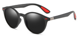 R010 Polarized Black Round Sunglasses