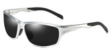 R017 Black Silver Trim Sport Sunglasses