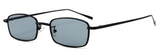 R024 Black Small Rectengular Sunglasses