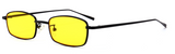 R025 Yellow Small Rectangular Sunglasses