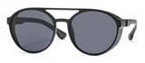 R031 Black Round Sunglasses