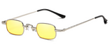 R038 Yellow Small Square Sunglasses