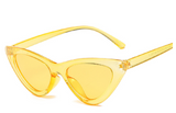 R042 Clear Yellow Retro Sunglasses