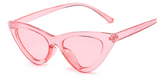 R043 Clear Pink Retro Sunglasses