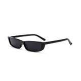 R046 Black Rectangular Sunglasses