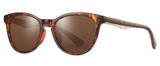 R007 Brown Oval Sunglasses