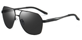 R008 Black Aviator Sunglasses