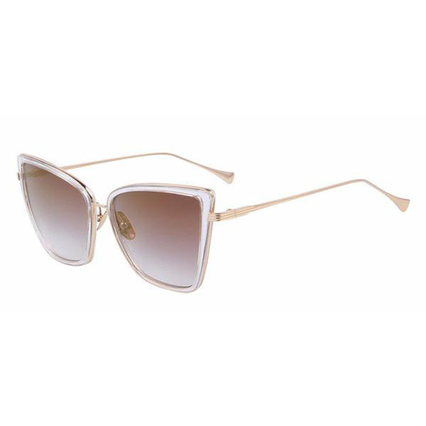 C003 Brown Classic Cat Eye Sunglasses