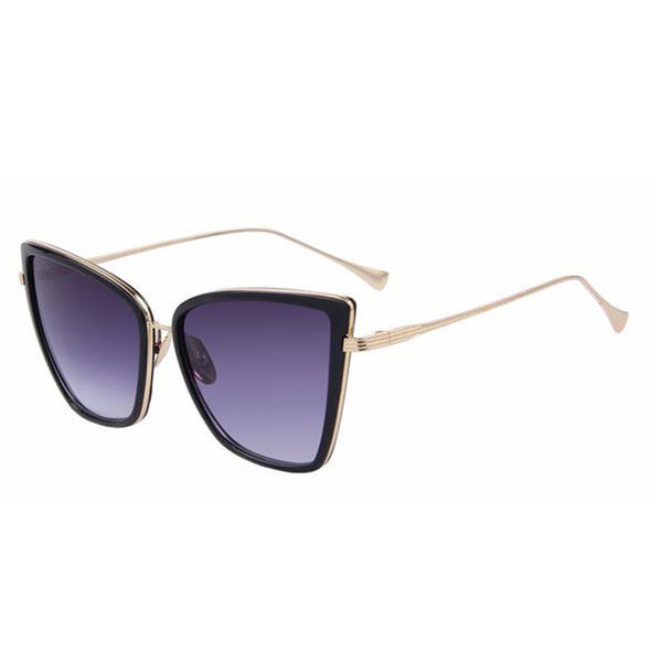C001 Black Classic Cat Eye Sunglasses
