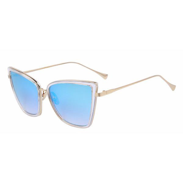 C002 Blue Classic Cat Eye Sunglasses