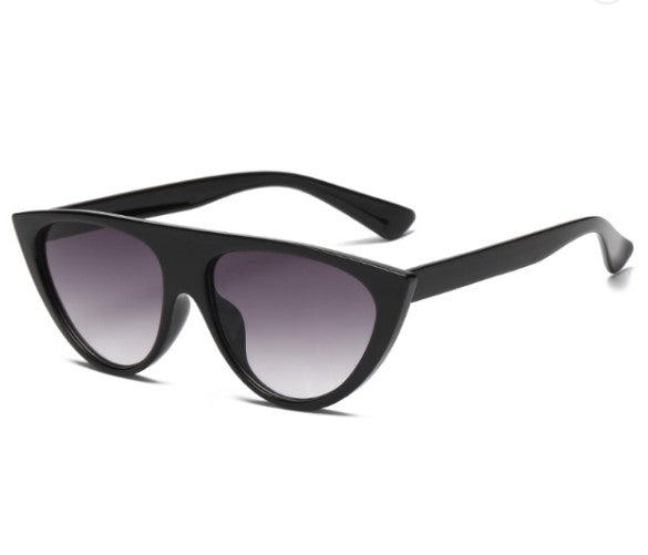 W059 Black Cat Eye Sunglasses