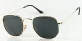 U029 Gold Black Hexa Sunglasses