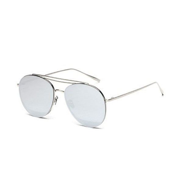 U002 Silver Aviator Sunglasses