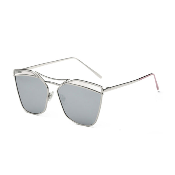C061 Polarized Silver Retro Sunglasses