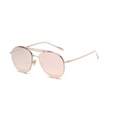U004 Pink Aviator Sunglasses