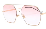 U075 Pink Square Sunglasses