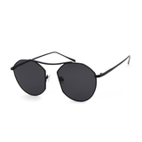 U042 Round Black Glasses