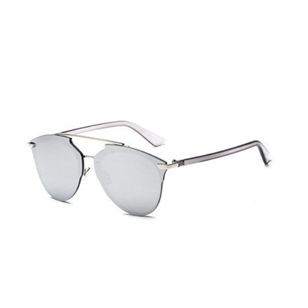 C041 Silver Cat Eye Sunglasses