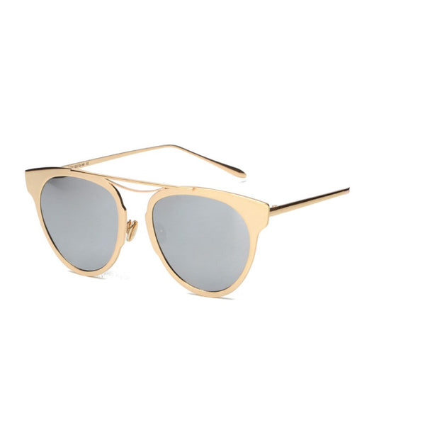 C015 Gold/Silver Polarized Cat Eye Sunglasses