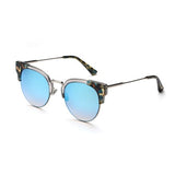 C004 Blue Cat Eye Sunglasses