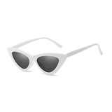 W042 White Cat Eye Sunglasses