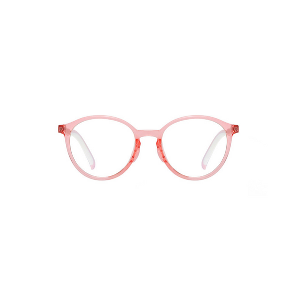 BK009 Pink Anti Blue Light Kids Glasses