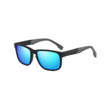 M023 Polarized Blue Rectangular Sunglasses