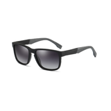 M024 Polarized Black Rectangular Sunglasses