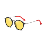N031 Polarized Yellow Round Sunglasses