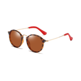 N032 Polarized Brown Round Sunglasses