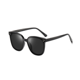 N033 Polarized Black Square Sunglasses