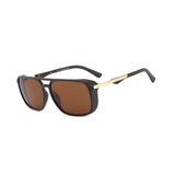 N041 Polarized Brown Square Sunglasses