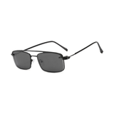 N042 Polarized Black Rectangular Clip On Sunglasses